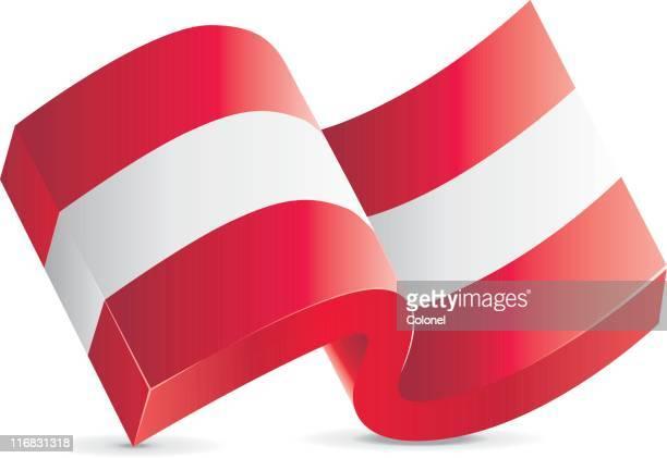Flagge-Österreich Symbol