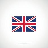 UK flag icon. British flag. United Kingdom, Union Jack concepts. Official color scheme. Premium quality. Vector illustration