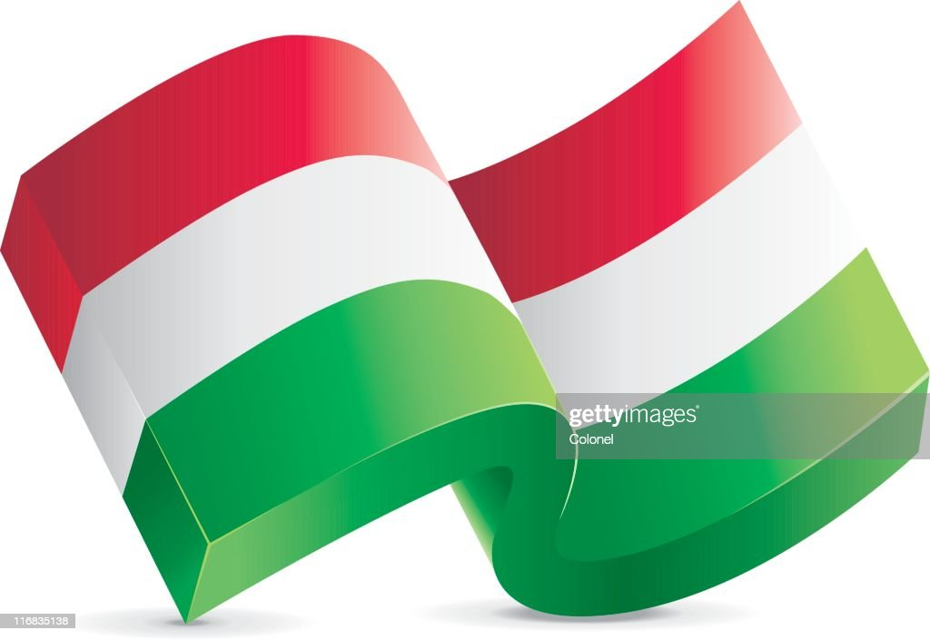 Flag Icon - Hungary : stock illustration