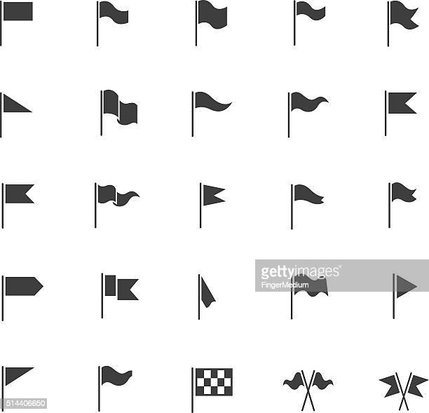 flag icon set - flag stock illustrations