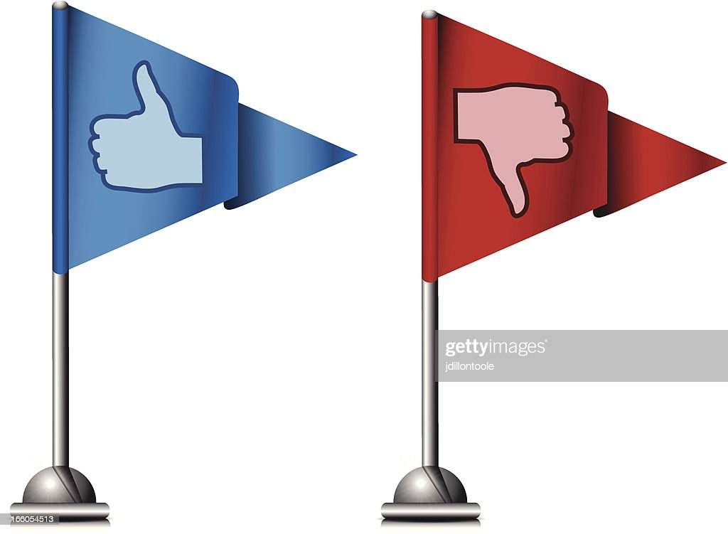 Flag Icons | Thumbs Up and Down : stock illustration