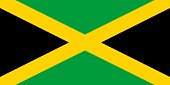 Flag in colors of Jamaica, vector image