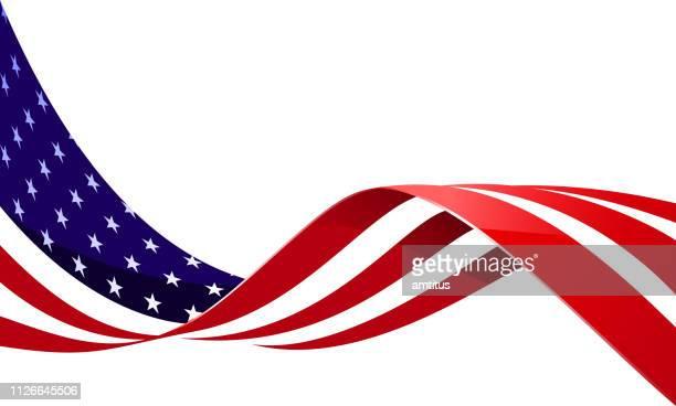 flagge im wind - winken stock-grafiken, -clipart, -cartoons und -symbole