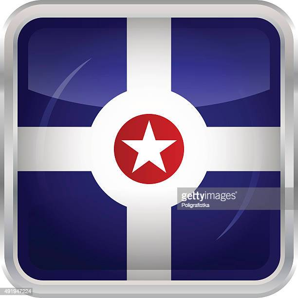 flag indianapolis - indianapolis stock illustrations, clip art, cartoons, & icons