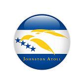 Flag Johnston Atoll button