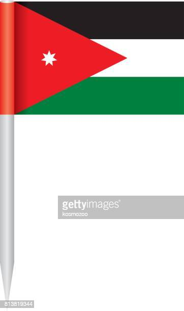 flag jordan - jordan middle east stock illustrations, clip art, cartoons, & icons