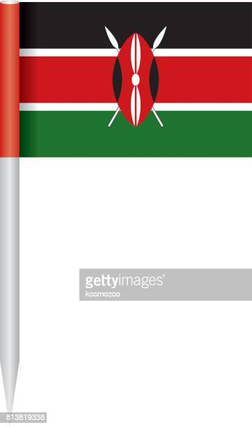 illustrazioni stock, clip art, cartoni animati e icone di tendenza di flag kenya - kenya