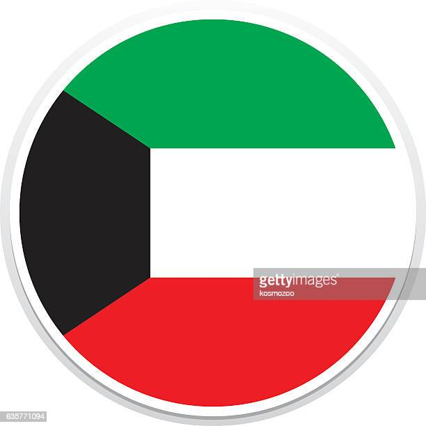 flag kuwait - kuwait stock illustrations, clip art, cartoons, & icons