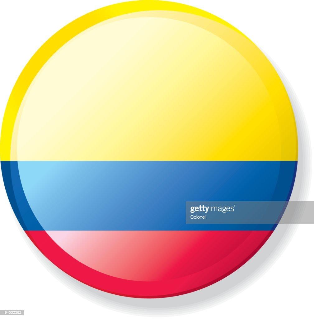 Flag Lapel Button - Colombia