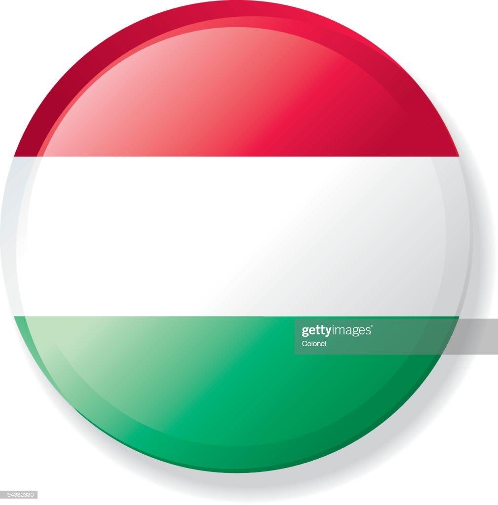 Flag Lapel Button - Hungary : stock illustration