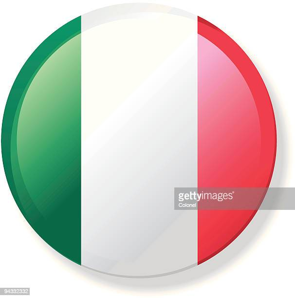 Flag Lapel Button - Italy