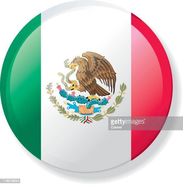 Bandera solapa con botón de México