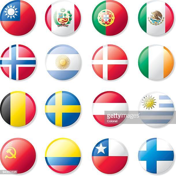 flagge revers knöpfen - norwegische flagge stock-grafiken, -clipart, -cartoons und -symbole
