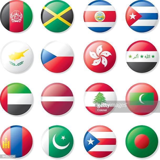 Flag Lapel Buttons