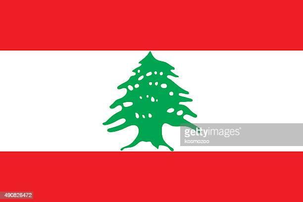 flag lebanon - cedar tree stock illustrations, clip art, cartoons, & icons