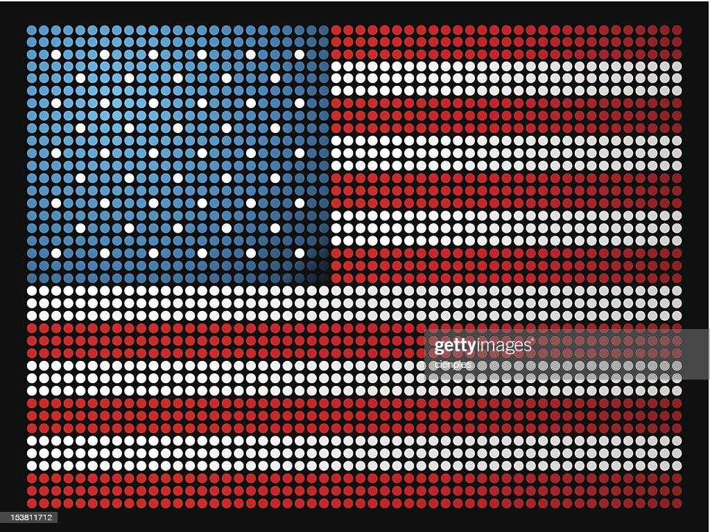 USA flag led lights