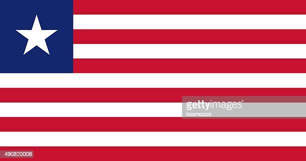 flag liberia - liberia stock illustrations, clip art, cartoons, & icons