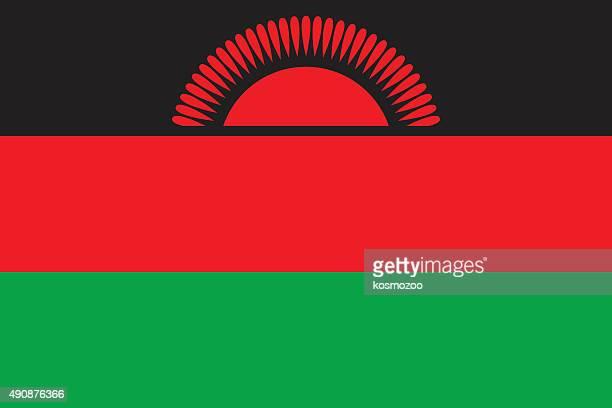 flag malawi - malawi stock illustrations