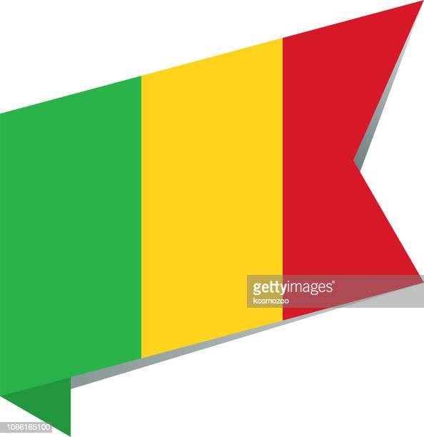 flag mali - mali stock illustrations, clip art, cartoons, & icons