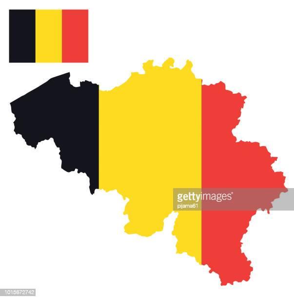 Flag map of Belgium
