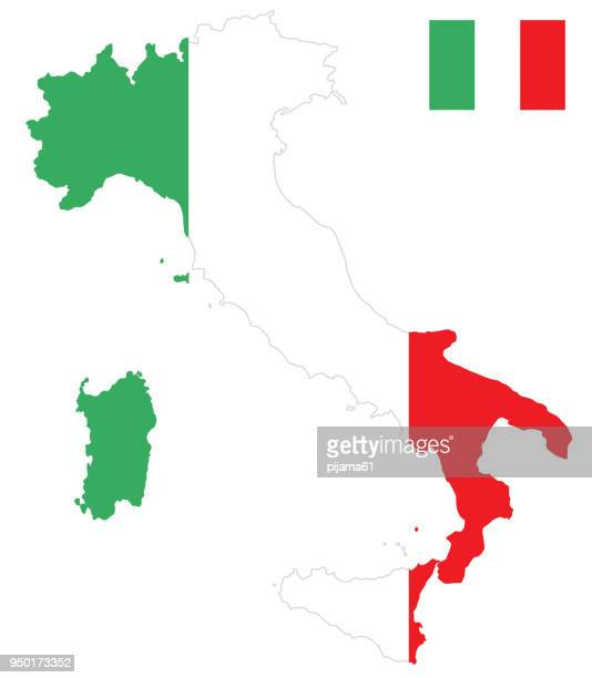 Flag map of Italy