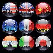 Flag Marbles