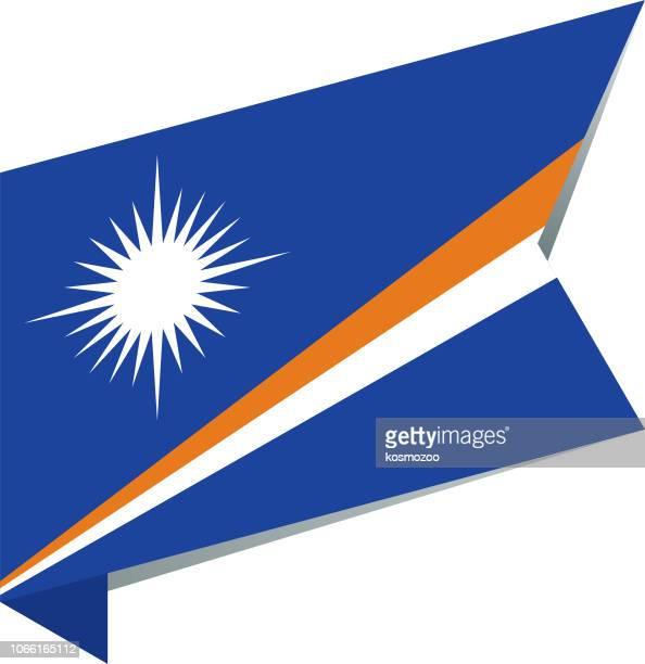 ilustraciones, imágenes clip art, dibujos animados e iconos de stock de islas marshall bandera - marshall islands