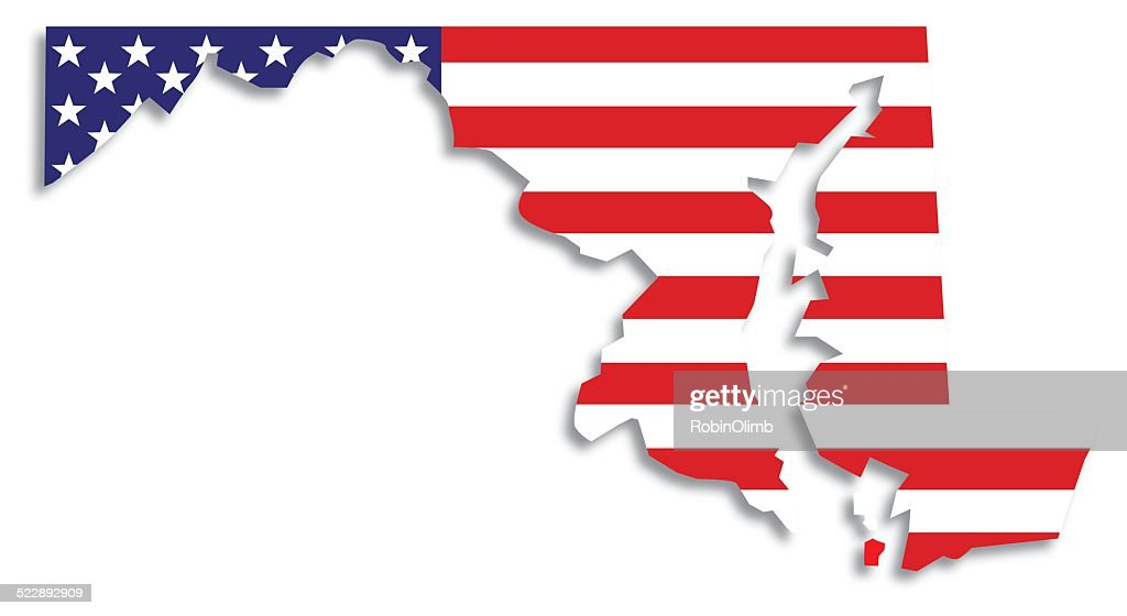 Usa Flag Maryland Map Vector Art Getty Images
