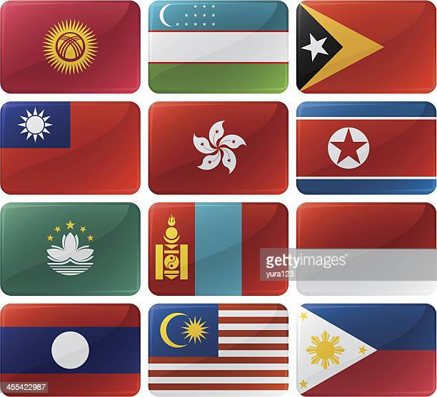 flag menu buttons - macao stock illustrations