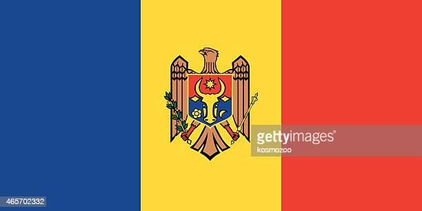flag moldova - moldova stock illustrations