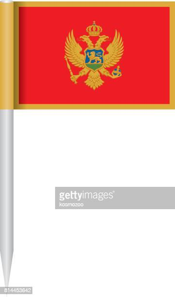 flagge montenegro - montenegro stock-grafiken, -clipart, -cartoons und -symbole