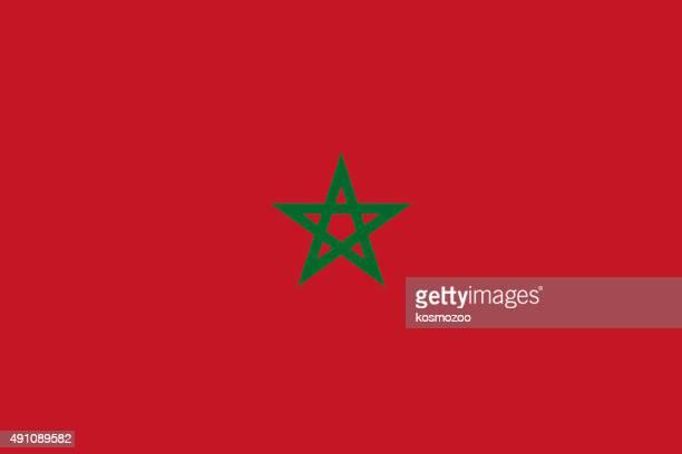 flag morocco - morocco stock illustrations, clip art, cartoons, & icons