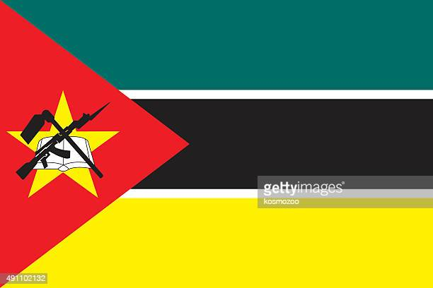 flag mozambique - mozambique stock illustrations, clip art, cartoons, & icons