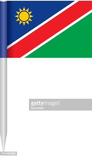 flag namibia - namibia stock illustrations, clip art, cartoons, & icons