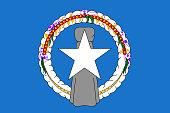 Flag Northern Mariana Islands flat style