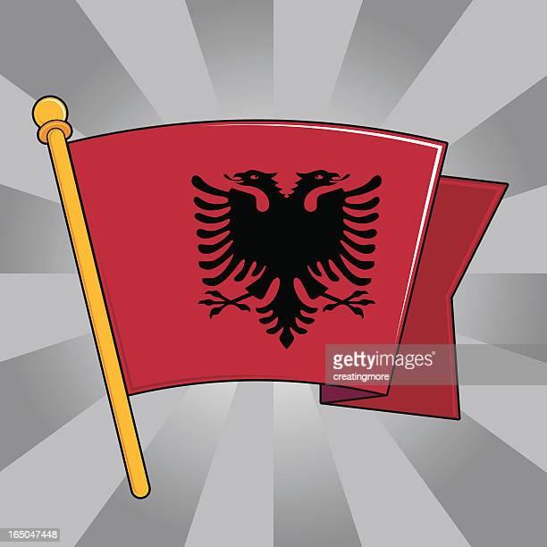 flag of albania - tirana stock illustrations, clip art, cartoons, & icons