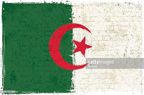 illustrations, cliparts, dessins animés et icônes de drapeau algérien sur le mur - algerie