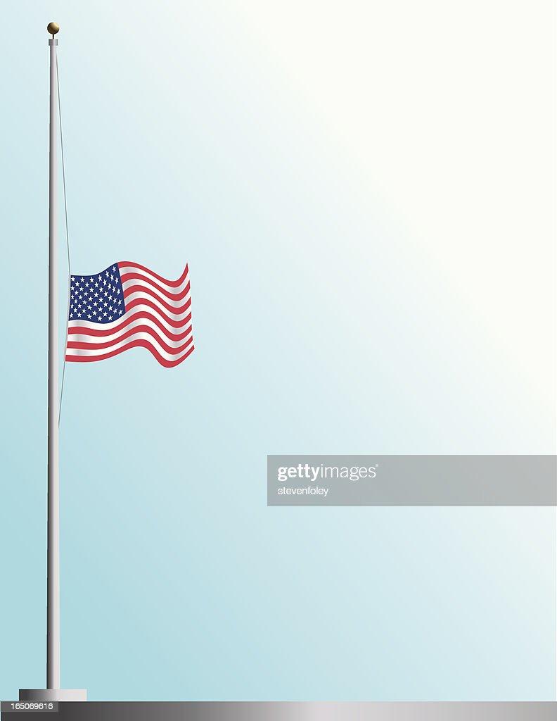 Flag of America at Half-Staff