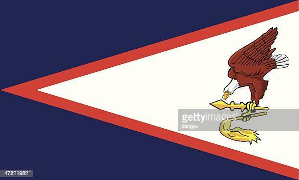 flag of american samoa - american samoa stock illustrations