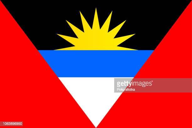 flag of antigua and barbuda - antigua & barbuda stock illustrations