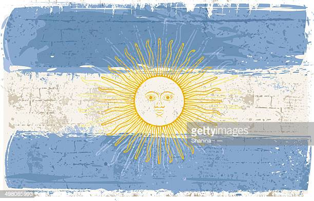 Flag of Argentine on Wall