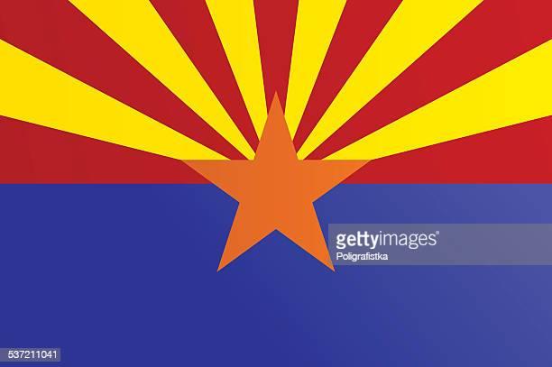 flag of arizona - arizona stock illustrations