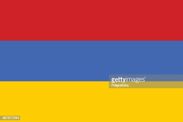 flag of armenia - armenian flag stock illustrations
