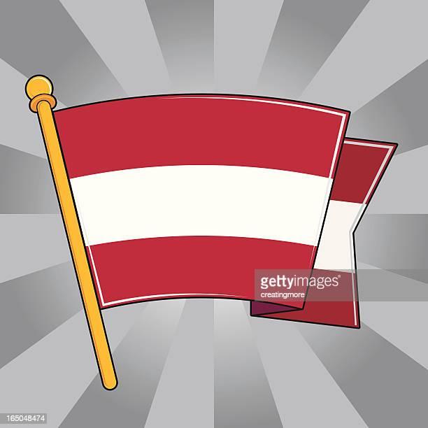 国旗のオーストリア - clip art点のイラスト素材/クリップアート素材/マンガ素材/アイコン素材