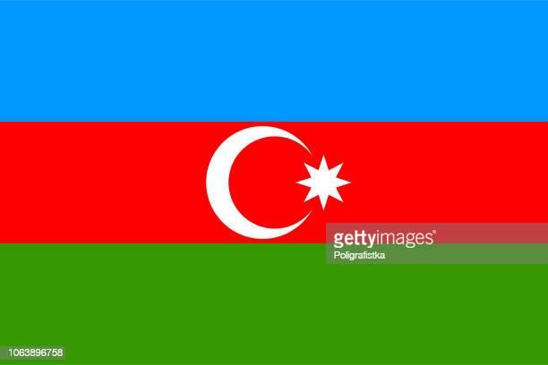 illustrazioni stock, clip art, cartoni animati e icone di tendenza di bandiera dell'azerbaigian - azerbaigian