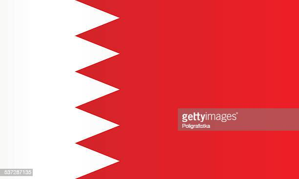 flag of bahrain - bahrain stock illustrations, clip art, cartoons, & icons