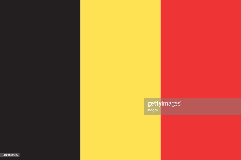 Flag of Belgium : Stockillustraties