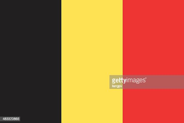 flag of belgium - all european flags stock illustrations