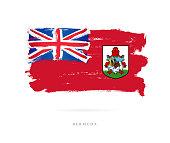 Flag of Bermuda. Vector illustration
