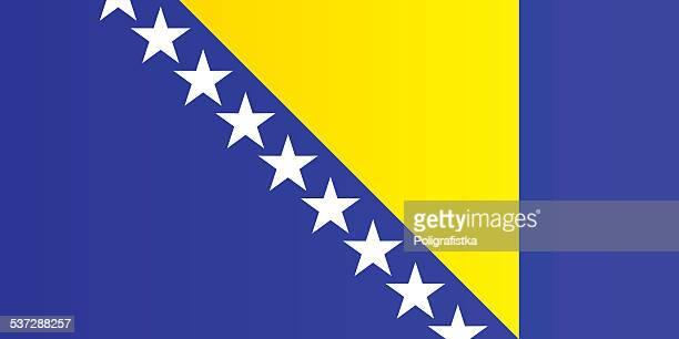flag of bosnia and herzegovina - bosnia and hercegovina stock illustrations